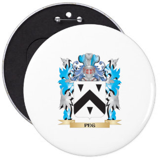Peg Coat of Arms - Family Crest Button