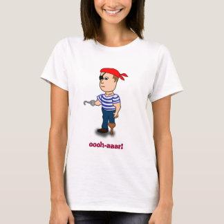Peg-leg Pirate ladies baby doll T-Shirt