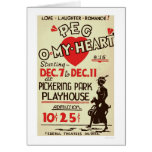 Peg Omy Heart Drama 1940 WPA Card