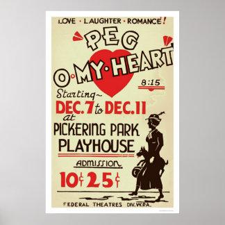 Peg Omy Heart Drama 1940 WPA Posters