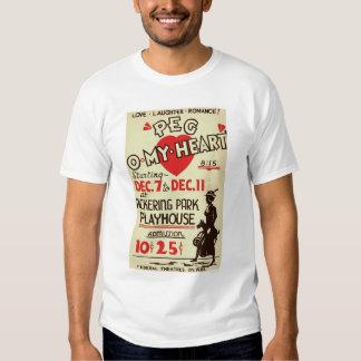 Peg Omy Heart Drama 1940 WPA Shirt
