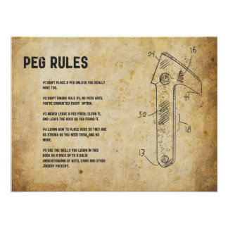 Peg Rules Posters