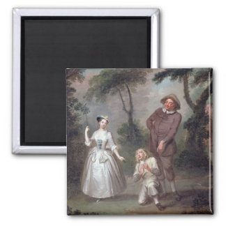 Peg Woffington as Rosalind with Celia and Touchsto 2 Inch Square Magnet
