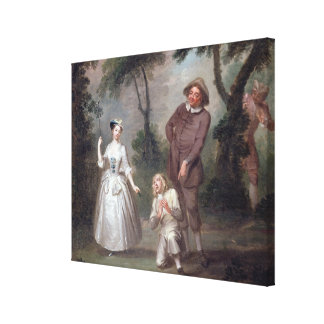 Peg Woffington as Rosalind with Celia and Touchsto Canvas Print