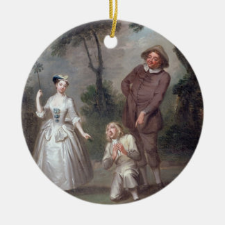 Peg Woffington as Rosalind with Celia and Touchsto Ceramic Ornament
