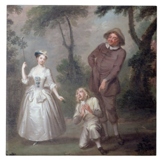 Peg Woffington as Rosalind with Celia and Touchsto Ceramic Tile