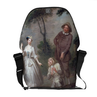 Peg Woffington as Rosalind with Celia and Touchsto Courier Bag