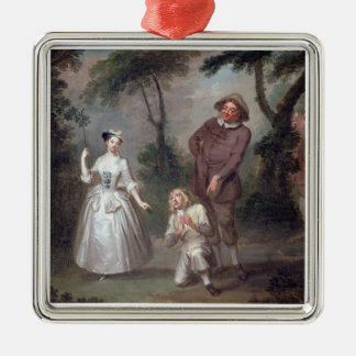 Peg Woffington as Rosalind with Celia and Touchsto Metal Ornament