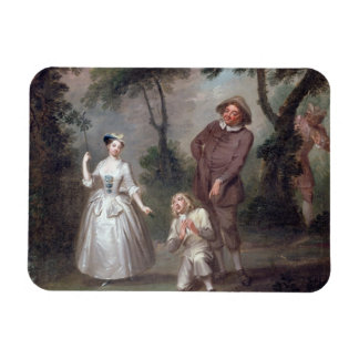 Peg Woffington as Rosalind with Celia and Touchsto Rectangular Photo Magnet
