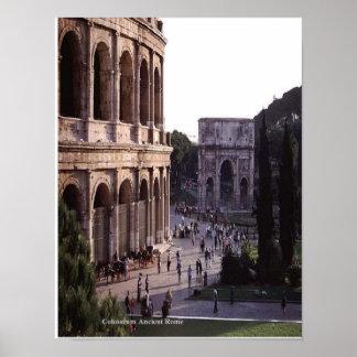 Pega antigua de Colosseum Roma Póster