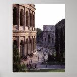 Pega antigua de Colosseum Roma Posters