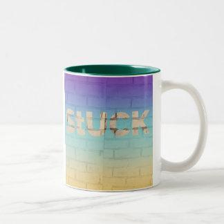 Pegado en el café taza de dos tonos