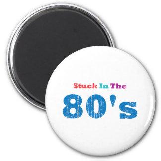 Pegado en los años 80 imán de frigorifico
