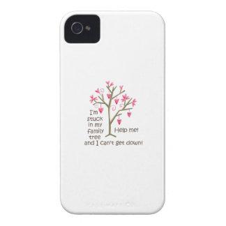 PEGADO EN MI ÁRBOL DE FAMILIA Case-Mate iPhone 4 FUNDAS