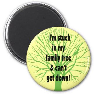 Pegado en mi árbol de familia iman