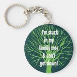 Pegado en mi árbol de familia llaveros personalizados