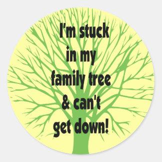 Pegado en mi árbol de familia pegatina redonda