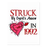 Pegado por la flecha del Cupid en 1992 Tarjetas Postales