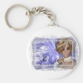 Pegagus & Fairy - Fantasy Product Line Basic Round Button Keychain