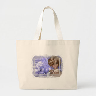 Pegagus & Fairy - Fantasy Product Line Large Tote Bag