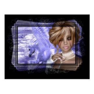 Pegagus & Fairy - Fantasy Product Line Postcard