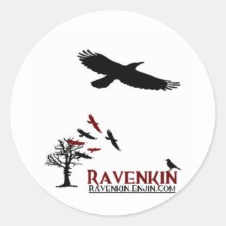 Pegajoso especial de Ravenkin Pegatina Redonda