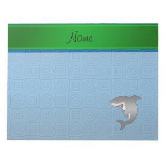 Pegamento conocido personalizado del tiburón bloc de notas