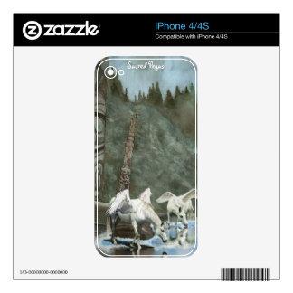 Pegasi Drinking & Totem Pole Fantasy iPhone 4 Skin