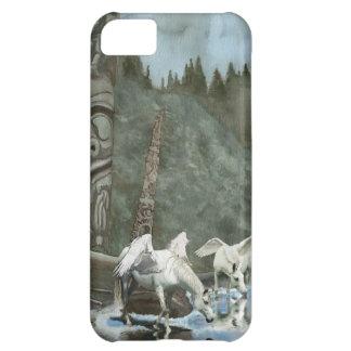 Pegasi sagrado que bebe de arte de la fantasía del carcasa iPhone 5C