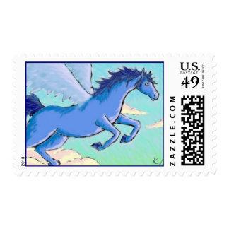 Pegaso azul sellos