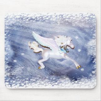 Pegaso azul tapete de ratones