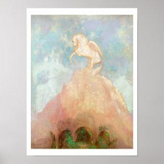 Pegaso blanco, c.1908 (aceite en lona) póster