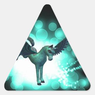 Pegaso Bucking Pegatinas De Triangulo
