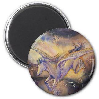 Pegaso con la nebulosa imán redondo 5 cm