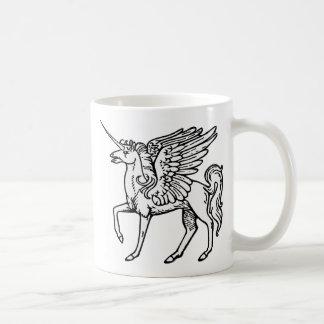 Pégaso Einhorn od del ou del unicornio o de Pegaso Taza Básica Blanca