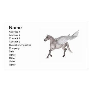 Pegaso el caballo con alas tarjetas de negocios