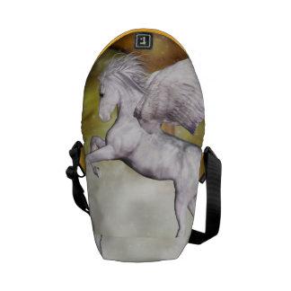 Pegaso elegante bolsa de mensajería