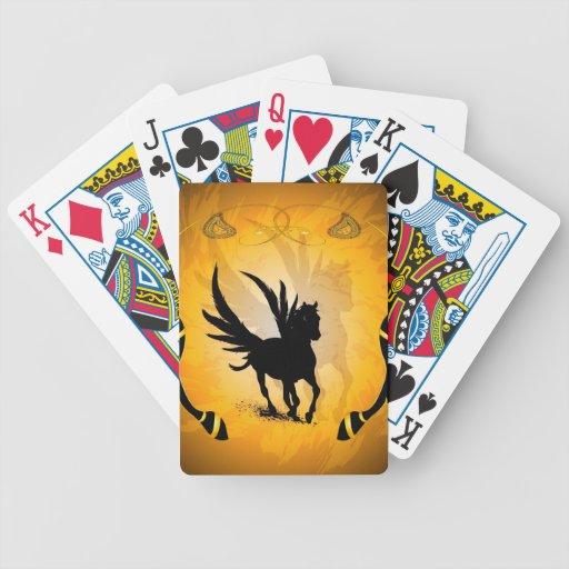 Pegaso que sorprende barajas de cartas