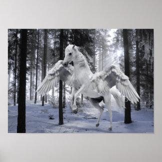 Pegaso se fue volando el poster de la nieve del póster