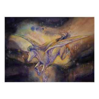 Pegassus With Nebula Posters