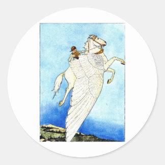 pegasus-1 classic round sticker