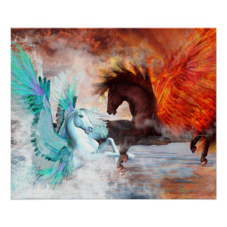"Pegasus 24"" x 20"", Poster (Matte) - Pick Your Size"
