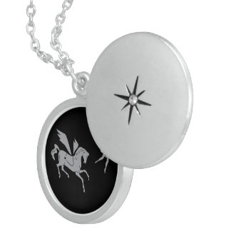 Pegasus and The Ballerina Sterling Silver Necklace