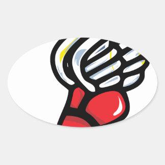 pegasus athlete shoe wing oval sticker
