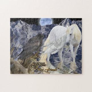 Pegasus & Black Raven Fantasy Art Puzzle