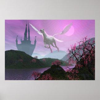Pegasus Castle by Michelle Wilder Posters