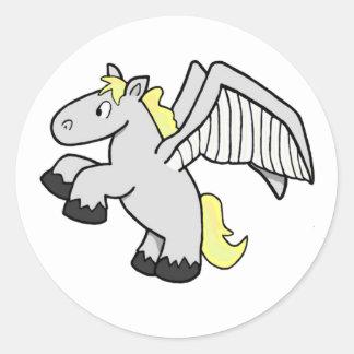Pegasus Classic Round Sticker