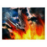 Pegasus - courage, strong wings and a pure heart posters