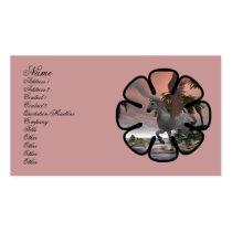 pegasus, cove, fantasy, scenery, palm, tree, water, ocean, bay, sunset, mystic, mystical, horse, horses, pegasi, digital realism, Business Card with custom graphic design