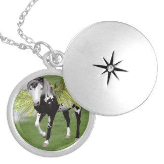 Pegasus Dreams Silver Plated Necklace